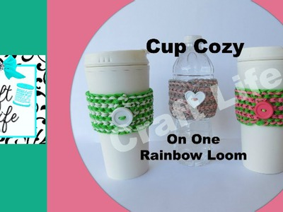 Craft Life Cup Cozy Tutorial on One Rainbow Loom