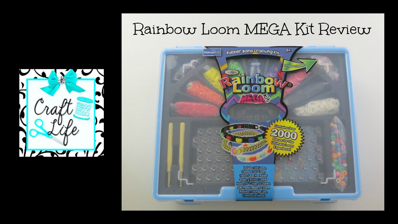 Craft Life Rainbow Loom Walmart Loominator MEGA Kit Review & Easy Bead & Charm Bracelet Tutorial