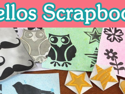 Crea tus Sellos. Tutorial Scrapbook - Homemade Stamps DIY