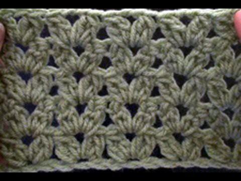 Crochet a Cluster V Stitch - Blanket Crochet Geek July 2 Video