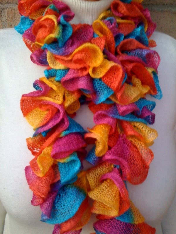 Crochet a Ruffled Scarf with the Afghan or Tunisian Stitch