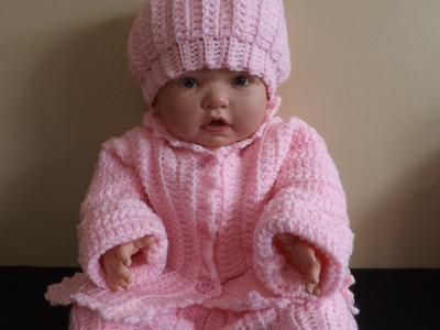 Crochet Abrigo  o Suéter Para Bebe' .