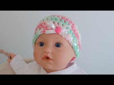 Crochet Baby Beanie - Newborn to 12 Months Old Sizes