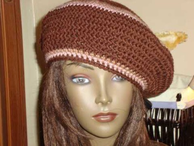 Crochet Beret Tutorial #5 Finishing Your Hat