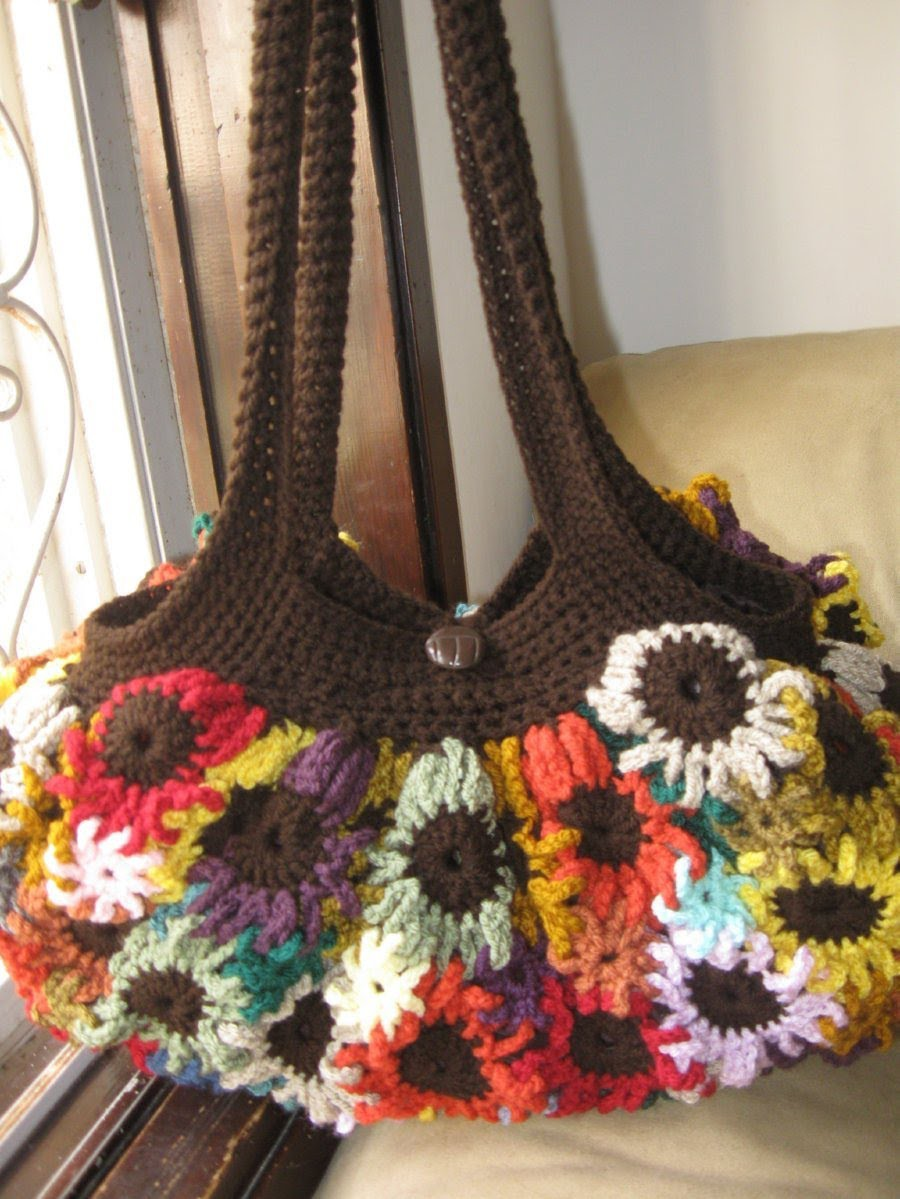 Crochet Flower Purse Tutorial 1 - Making the Flowers