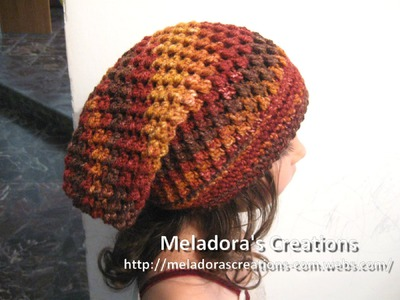 Crochet Hat - Meladora's Butterfly Stitch Slouch Hat Tutorial