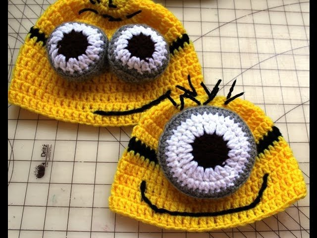 #Crochet Inspired by:  Despicable Me Minion  Beanie. Video 1