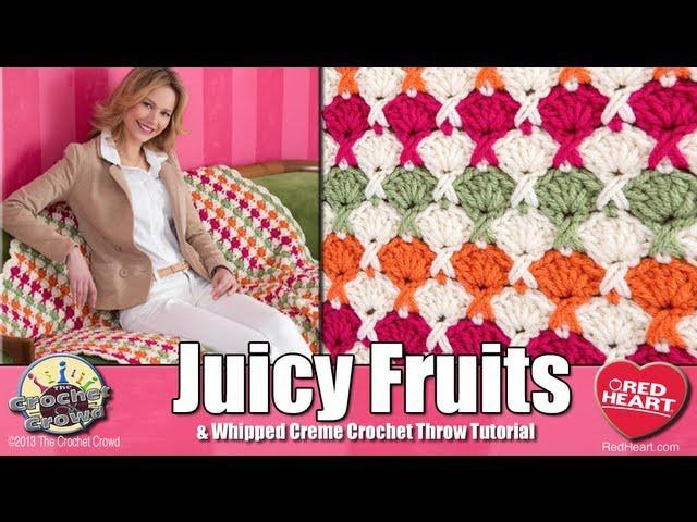 Crochet Juicy Fruits Throw Project