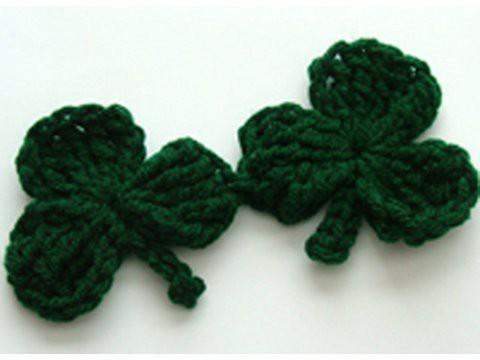 Crochet Shamrock C - Clover Crochet Geek