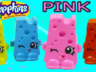 Custom Shopkins Pink Cheese Chee Zee DIY Inspired Painted Craft Kawaii Toy Cookieswirlc
