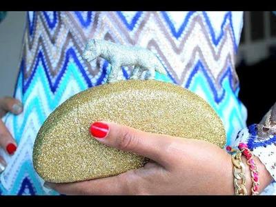 طريقة عمل حقيبة يد راقية للعيد والمناسبات موضة 2014: DIY glitter clutch tutorial
