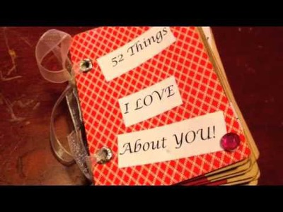 DIY: 52 Things I Love About You Deck Of Cards  ♡ Theeasydiy #Crafty