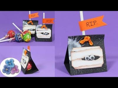 DIY Cajitas de Regalo *Halloween Treats* Cajita de sorpresa Cumpleaños Momia Scrapbook Pintura Facil