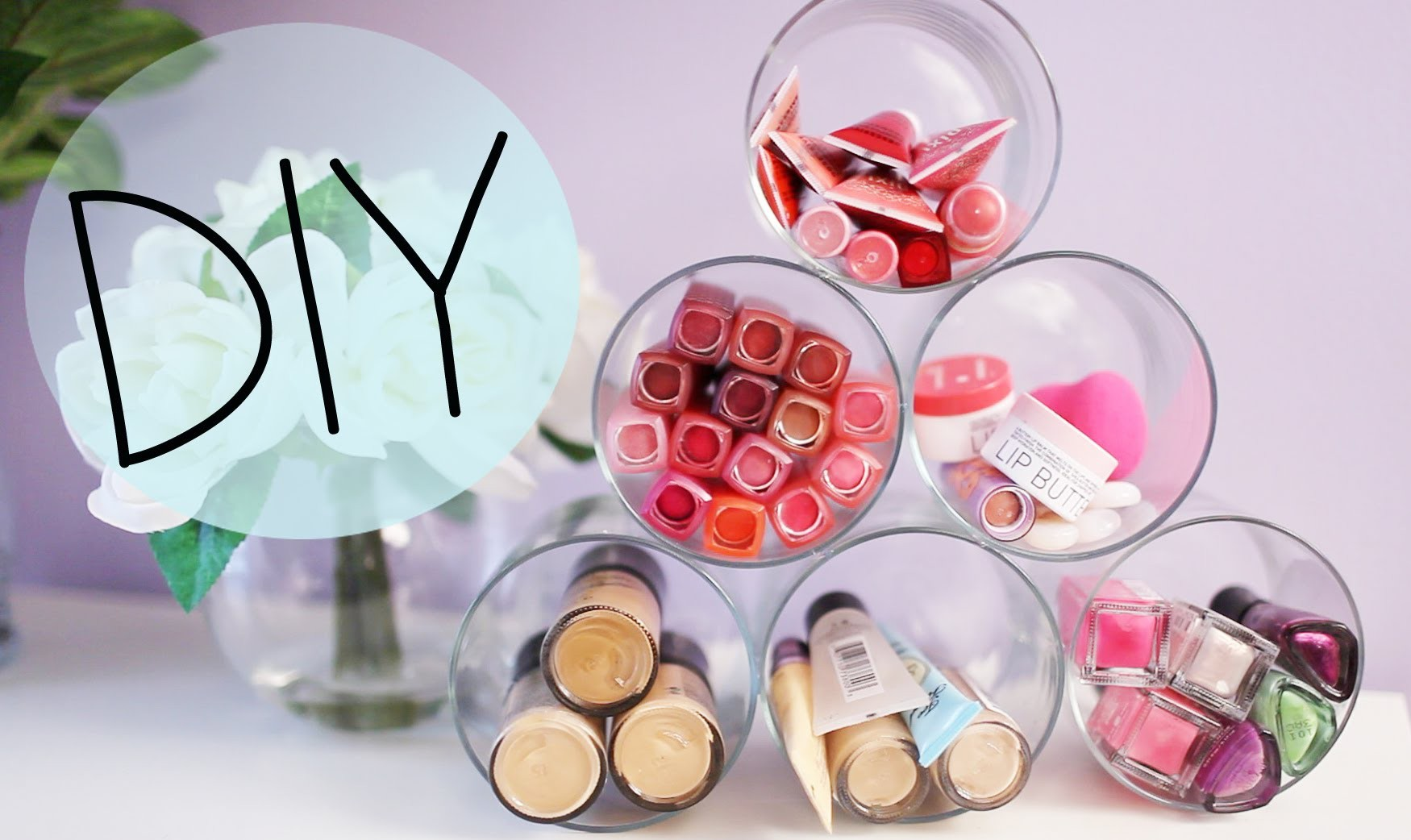 DIY Candle Jar Organizer & Ideas to Upcycle Bath & Body Works Jars {Makeup organizer}