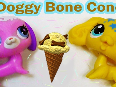 DIY Doggy Bone Cone Ice Cream Littlest Pet Shop Webkinz Inspired Craft LPS Dogs