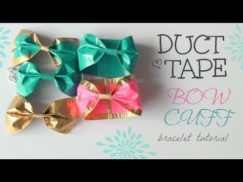 DIY: Duct Tape Bow Cuff Bracelet