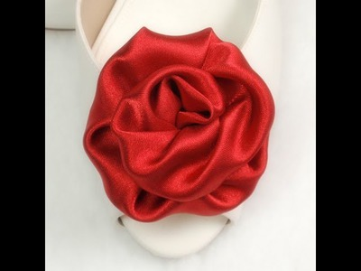 DIY Fabric Flowers Roses,  Tutorial, DIY, Variant #2