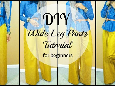 DIY | How to Sew Wide leg Pants | For Beginners