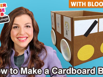 "DIY Kids Craft Cardboard ""Wheels on the Bus"" 