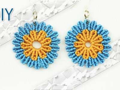 DIY Macramé Flower Earrings - Tutorial