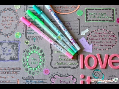 DIY Neutral & Neon Scrapbook Page