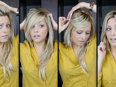 DIY: perfect Bangs, 4 Ways tutorial video