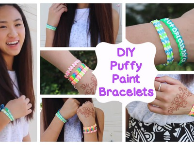 DIY Puffy Paint Bracelets | How To. Tutorial