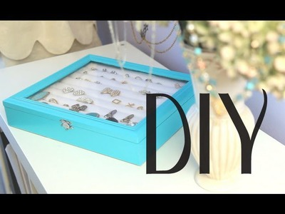 DIY Rings & Earrings Jewelry Display Box Organizer {Tiffany & Co inspired Theme}