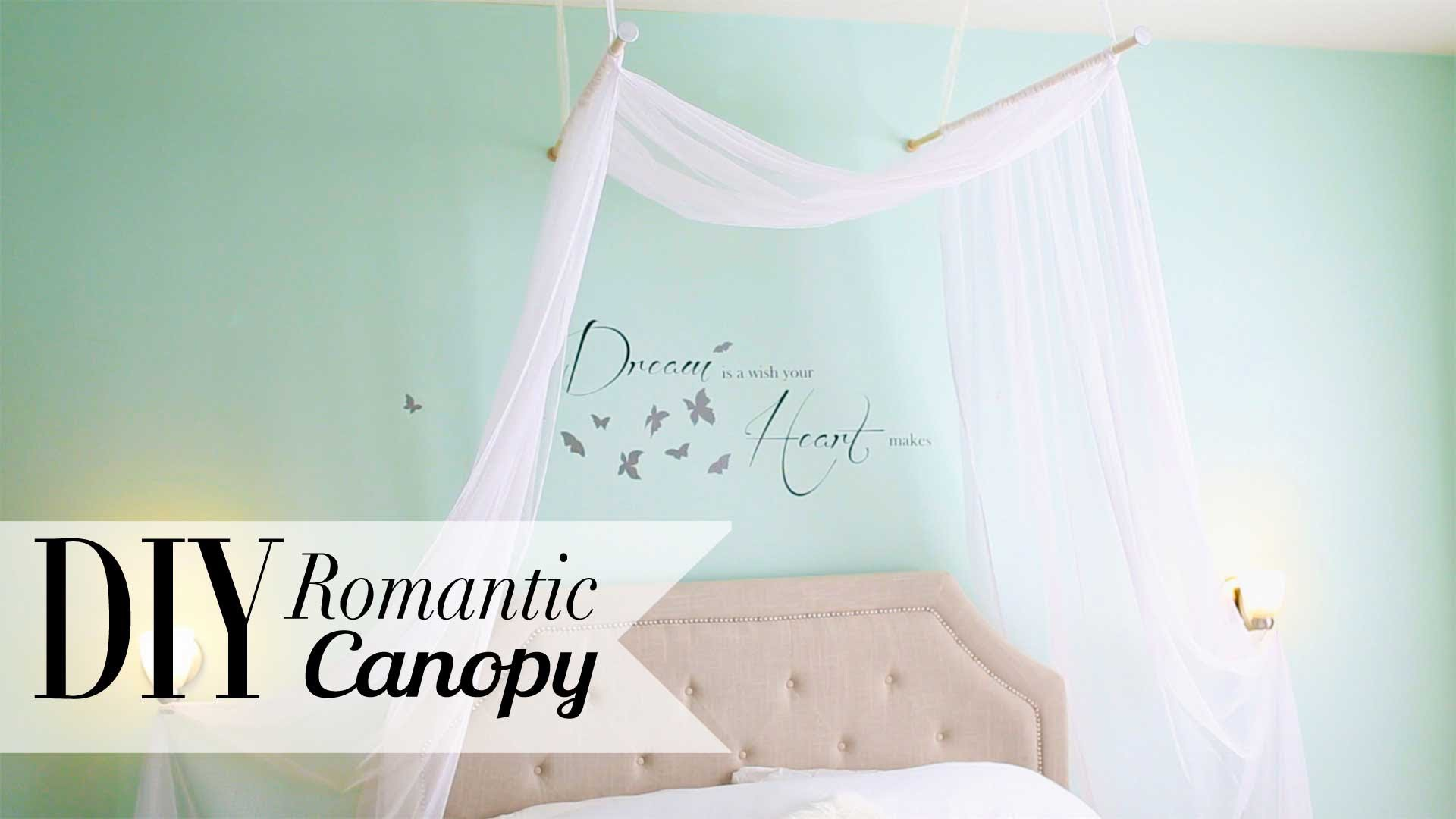 DIY Romantic Bedroom Canopy by ANNEORSHINE