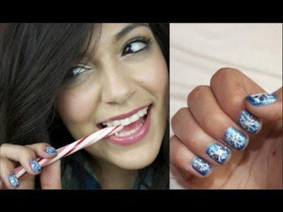 DIY Snowflake Holiday Nail Tutorial!