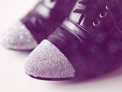 DIY sparkle & glitter shoes - DIY fashion video tutorial