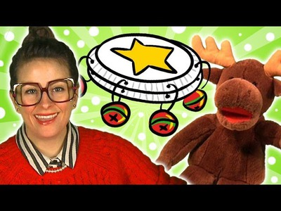 DIY Tambourine - Crafts for Kids w. Cool School & Marty the Moose!
