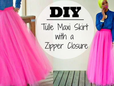 DIY | Tulle Maxi Skirt | With a Hidden Zipper