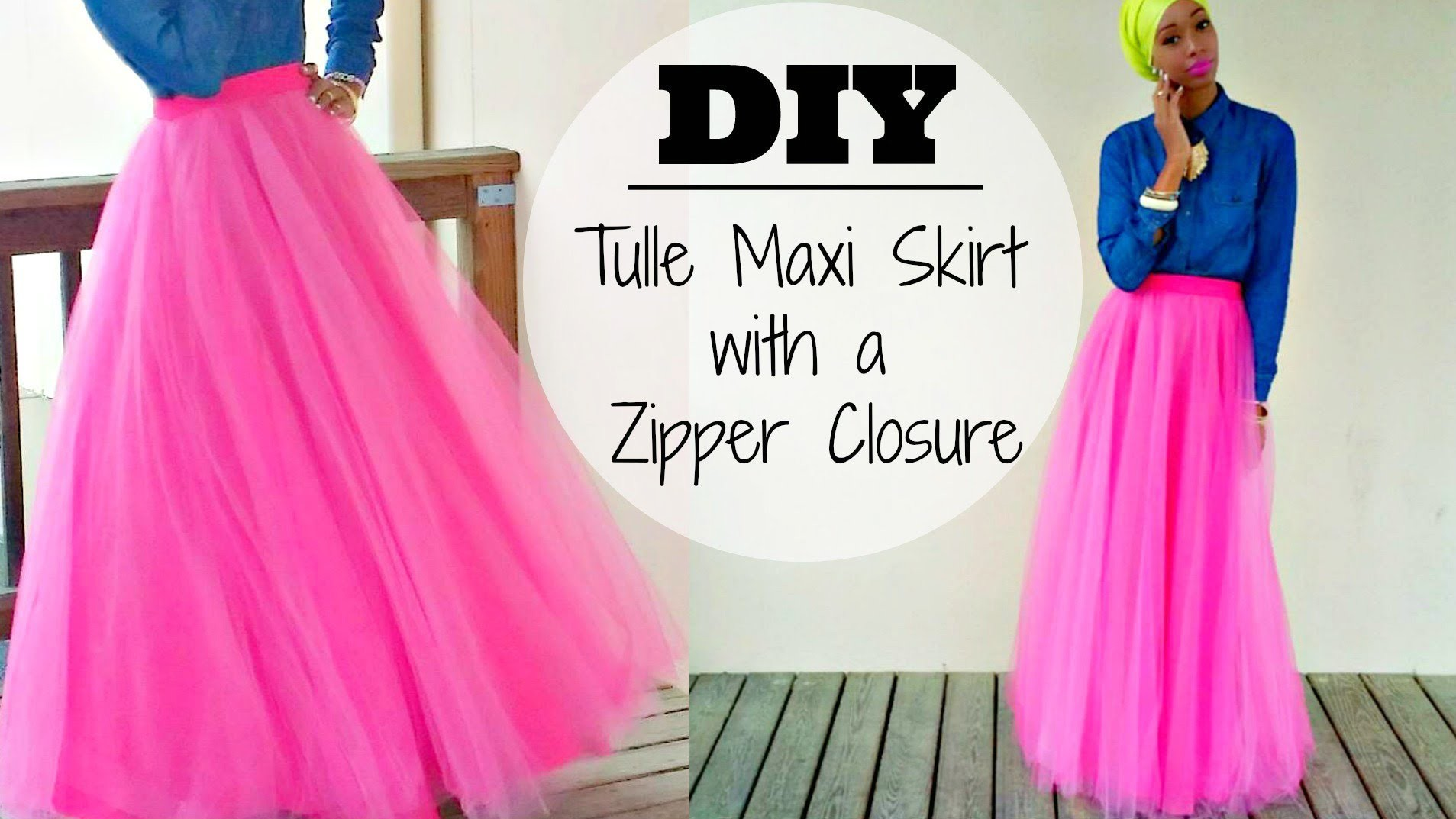 DIY | Tulle Maxi Skirt | With a Hidden Zipper