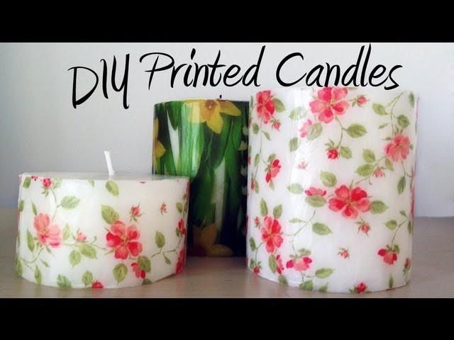 DIY tutorial: Decorate candles with paper napkins. Decorar velas con servilletas de papel