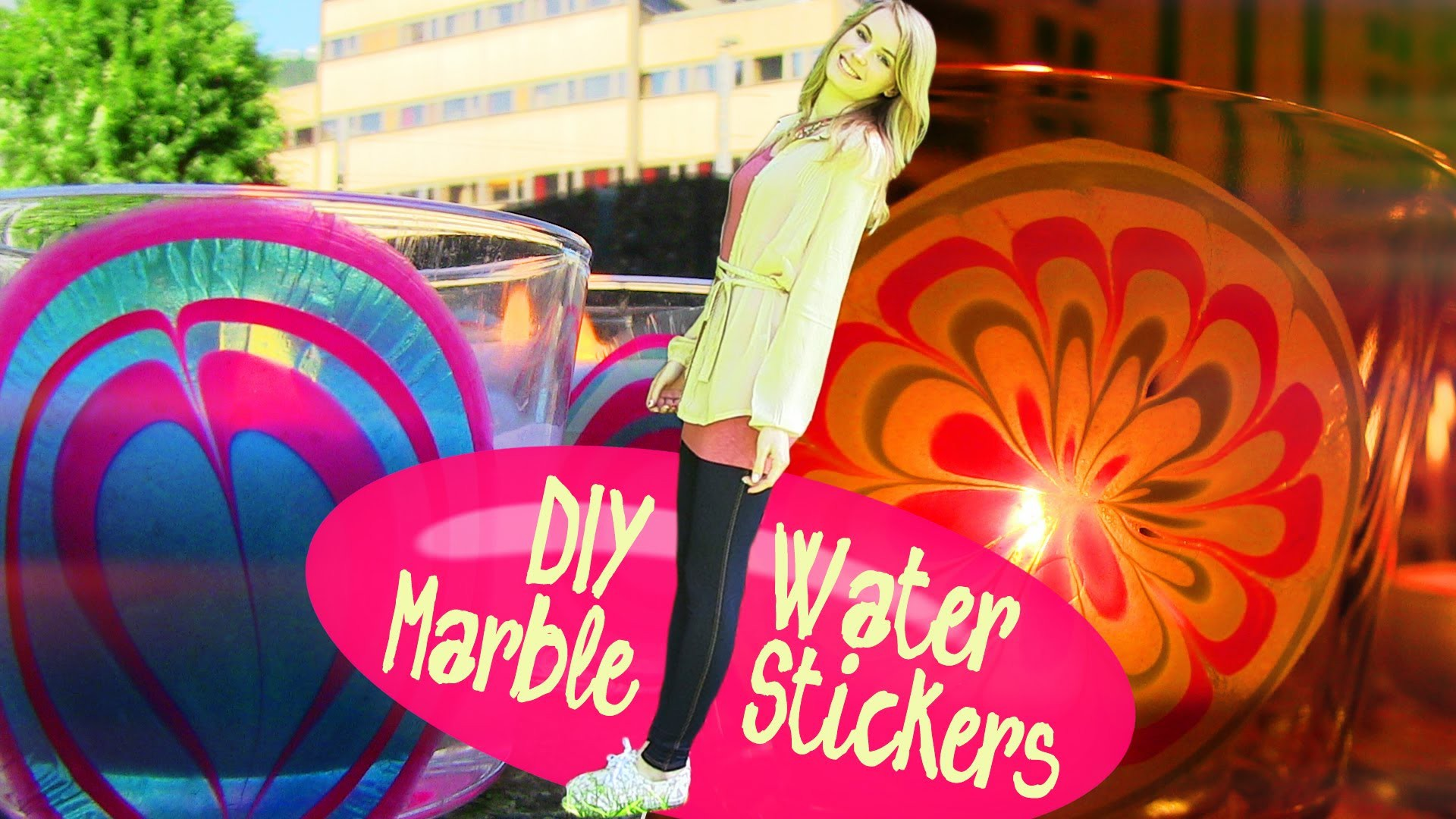 DIY Water Marble Room Decor. How to Make Stickers at Home!