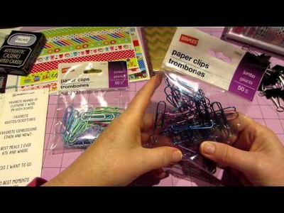 Dollar Tree Washi haul and Button paper clips