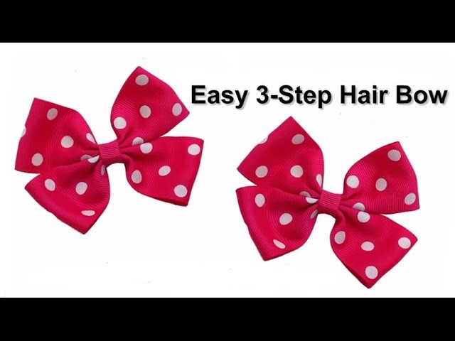 Easy 3-Step No Sew DIY Hair Bow Tutorial