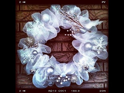 Easy & Quick Tutorial How to make Geo or Deco Mesh Wreath