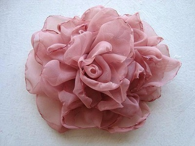 EASY METHOD, BEAUTIFUL SILKY FLOWER # 2, DIY fabric flower tutorial
