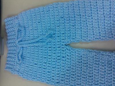 Easy to crochet baby. Infant pants