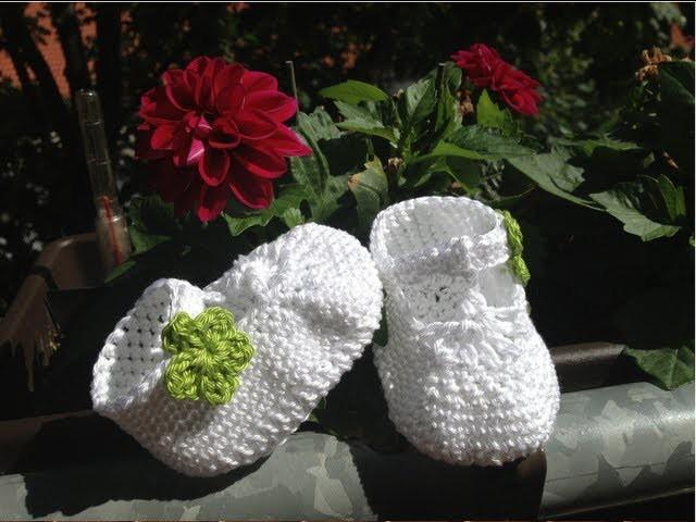 Escarpínes de bebe con correa en crochet - Instrucción zapatitos de BerlinCrochet - Parte1, Suela