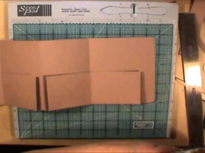 File Folder Mini Scrapbook Album Tutorial Style 2