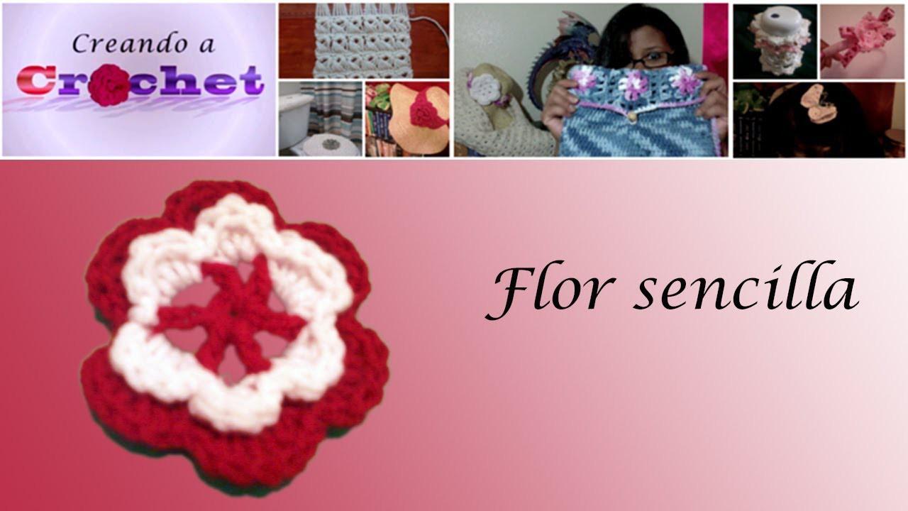 Flor sencilla -Tutorial de tejido crochet