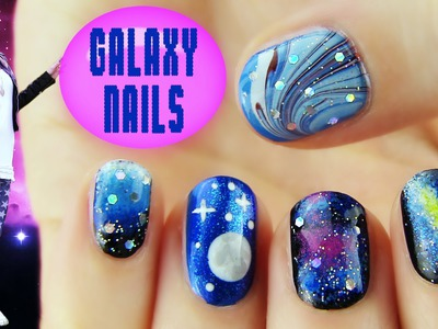 Galaxy Nails! 5 Galaxy Nail Art Designs & Ideas