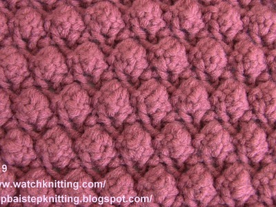(Grape seed ) - Embossed Knitting Patterns- Free Knitting Tutorials - Watch Knitting- pattern 19