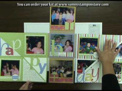 Happy Birthday Flip 'n Fold Mini Scrapbook Album