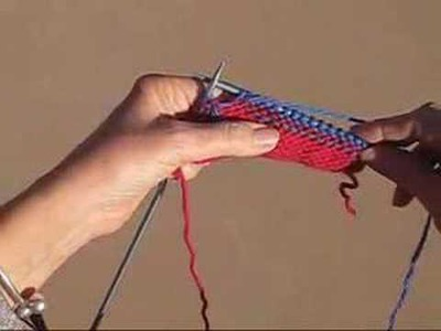 HOW TO ADD COLOR KNITTING VIDEO