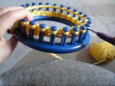 How To: Cast on and knit using a circular loom