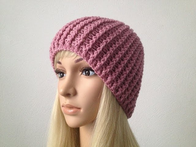 How to Crochet a Beanie Hat P#1│by ThePatterfamily